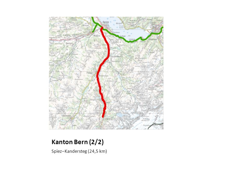 Kanton Bern (2/2) Spiez–Kandersteg (24,5 km)