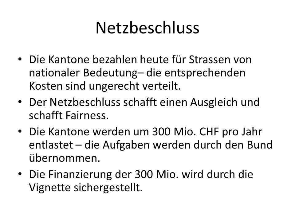NetzbeschlussDie Kantone bezahlen heute für Strassen von nationaler Bedeutung– die entsprechenden Kosten sind ungerecht verteilt.