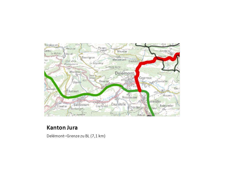 Kanton Jura Delémont–Grenze zu BL (7,1 km)
