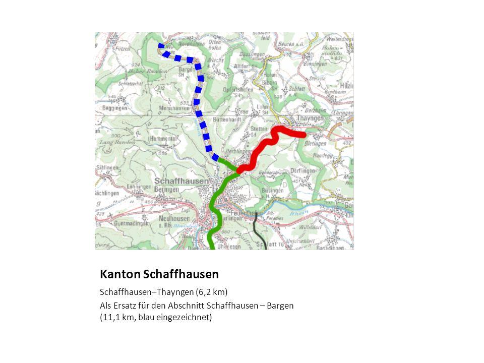 Kanton Schaffhausen Schaffhausen–Thayngen (6,2 km)