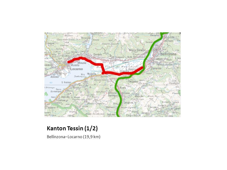 Kanton Tessin (1/2) Bellinzona–Locarno (19,9 km)