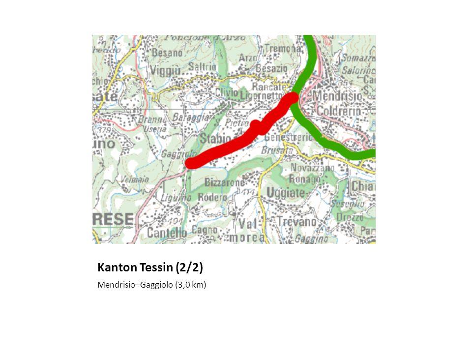 Kanton Tessin (2/2) Mendrisio–Gaggiolo (3,0 km)