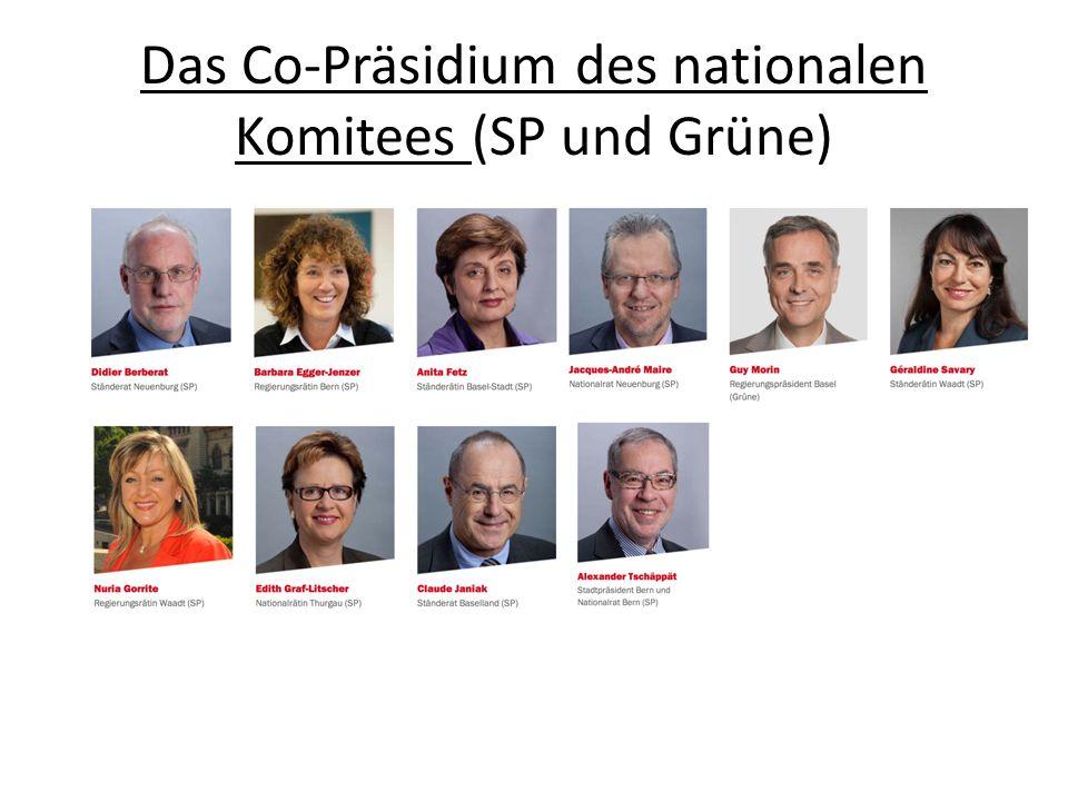 Das Co-Präsidium des nationalen Komitees (SP und Grüne)