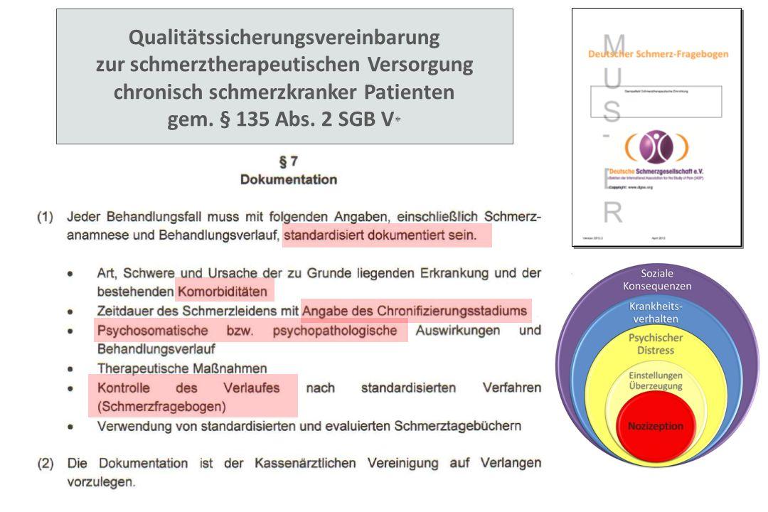 Qualitätssicherungsvereinbarung zur schmerztherapeutischen Versorgung