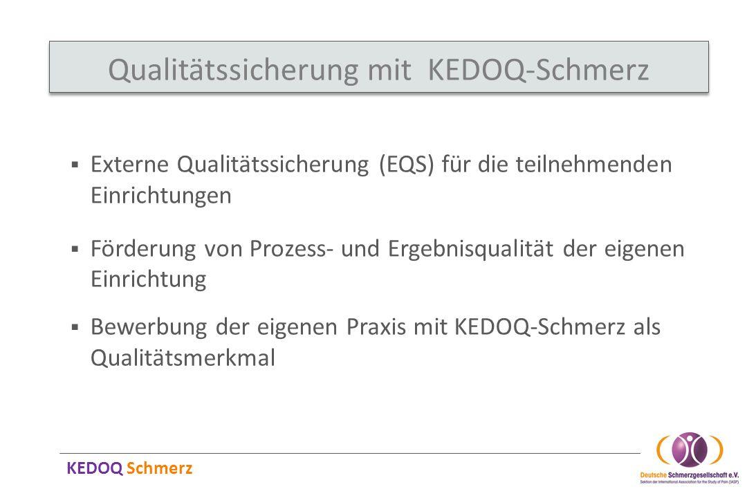 Qualitätssicherung mit KEDOQ-Schmerz