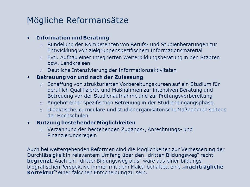 Mögliche Reformansätze