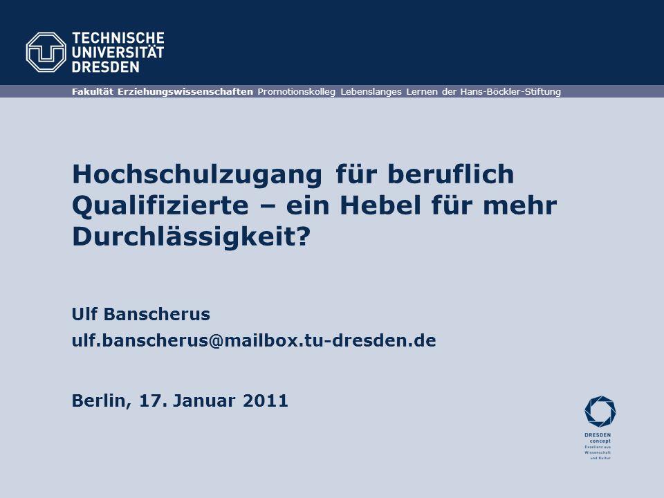Fakultät Erziehungswissenschaften Promotionskolleg Lebenslanges Lernen der Hans-Böckler-Stiftung