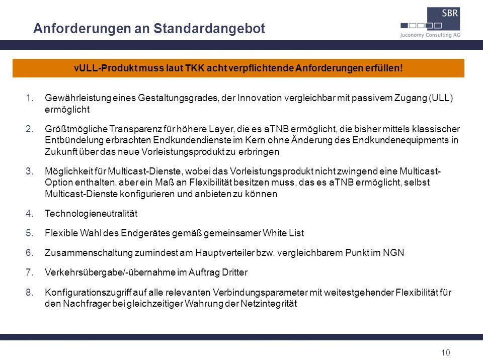 vULL-Produkt muss laut TKK acht verpflichtende Anforderungen erfüllen!