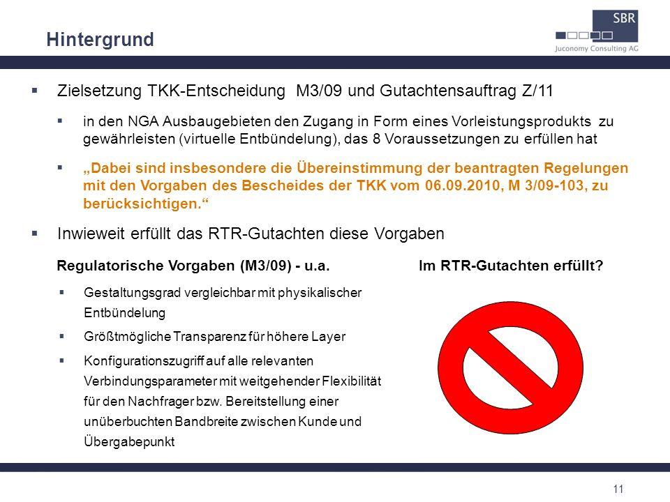 Hintergrund Zielsetzung TKK-Entscheidung M3/09 und Gutachtensauftrag Z/11.