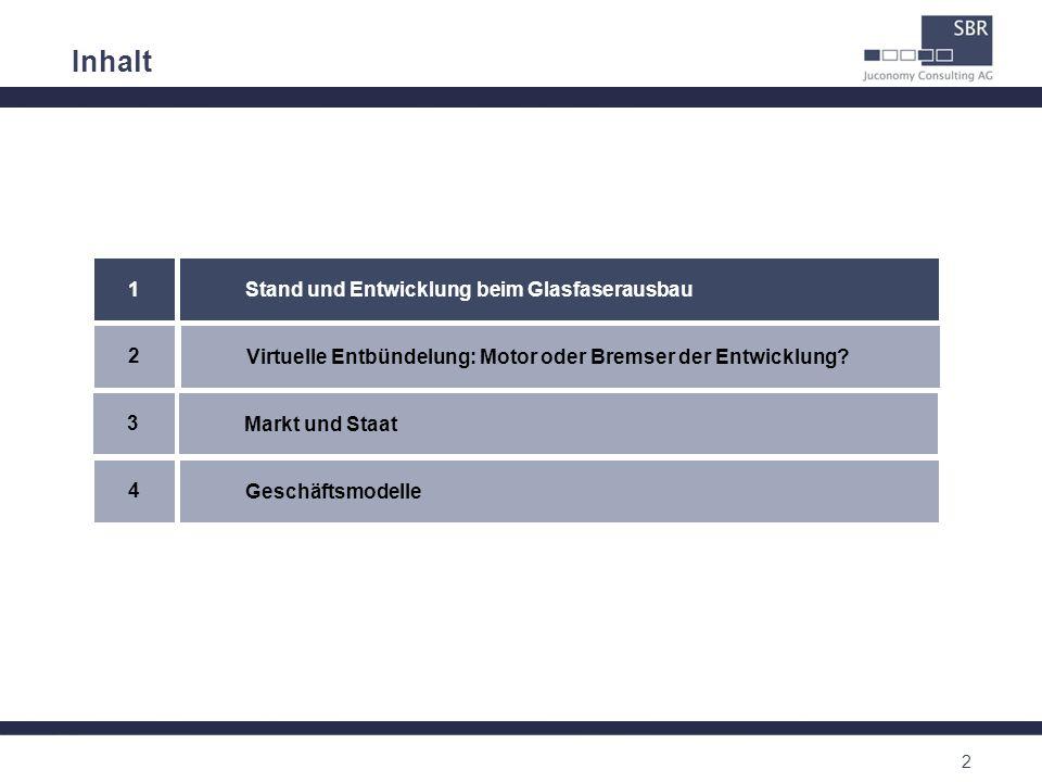Inhalt 1 Stand und Entwicklung beim Glasfaserausbau 2