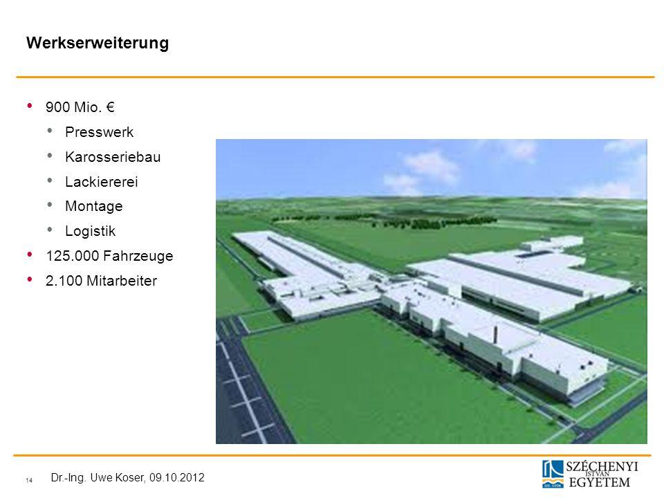 Werkserweiterung 900 Mio. € Presswerk Karosseriebau Lackiererei