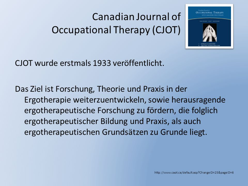 Canadian Journal of Occupational Therapy (CJOT)