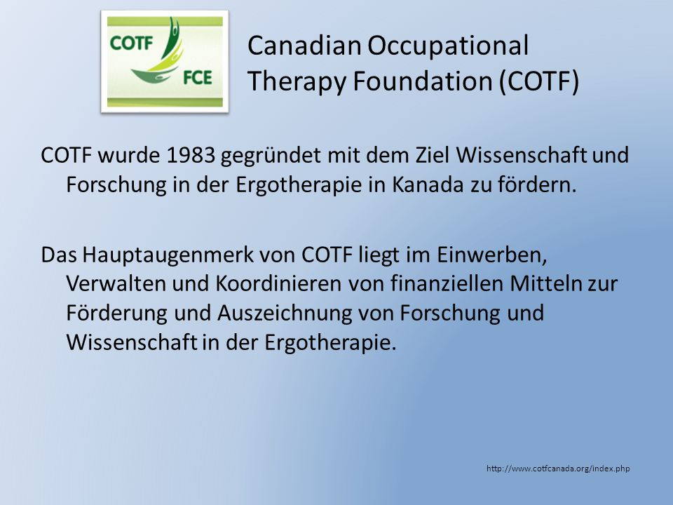 Canadian Occupational Therapy Foundation (COTF)