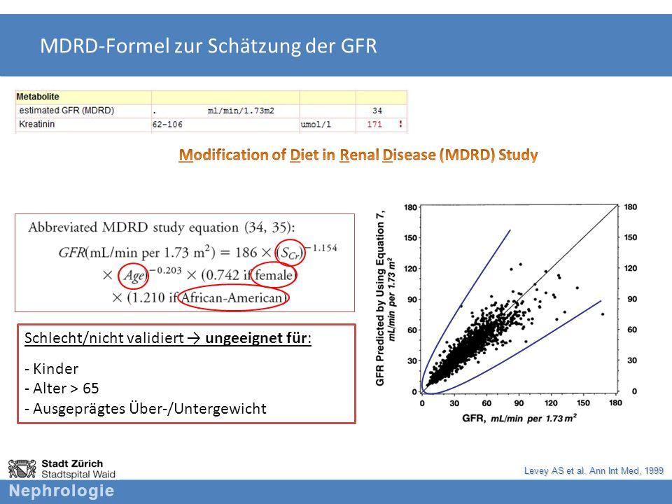 MDRD-Formel zur Schätzung der GFR