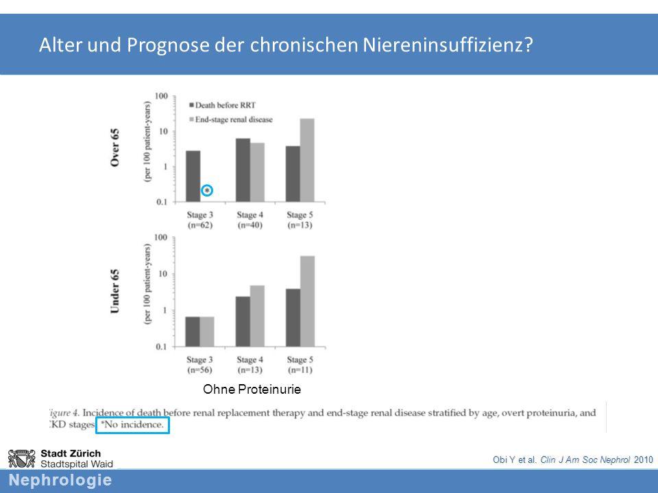 Alter und Prognose der chronischen Niereninsuffizienz