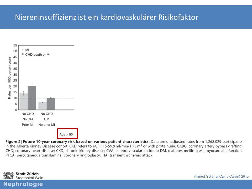 Niereninsuffizienz ist ein kardiovaskulärer Risikofaktor