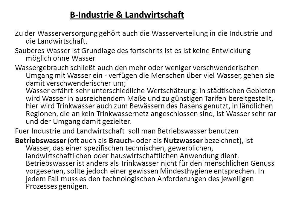 B-Industrie & Landwirtschaft