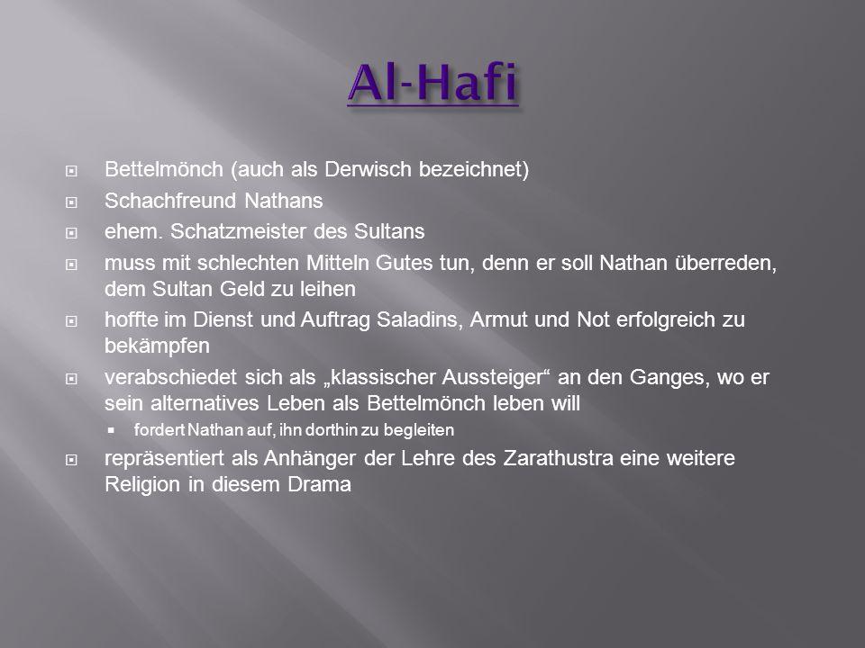 Al-Hafi Bettelmönch (auch als Derwisch bezeichnet)