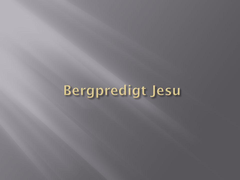 Bergpredigt Jesu