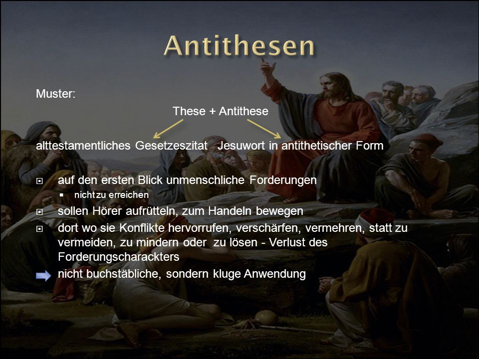 Antithesen Muster: These + Antithese