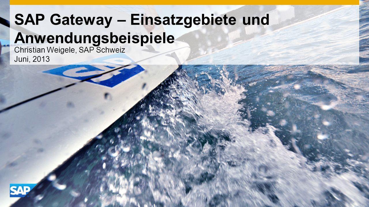 SAP Gateway – Einsatzgebiete und Anwendungsbeispiele