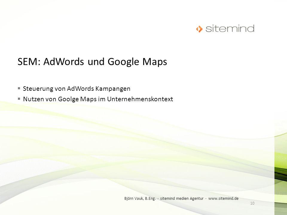 SEM: AdWords und Google Maps