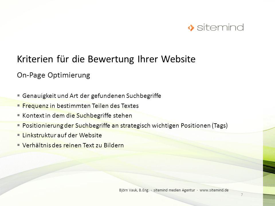 Kriterien für die Bewertung Ihrer Website