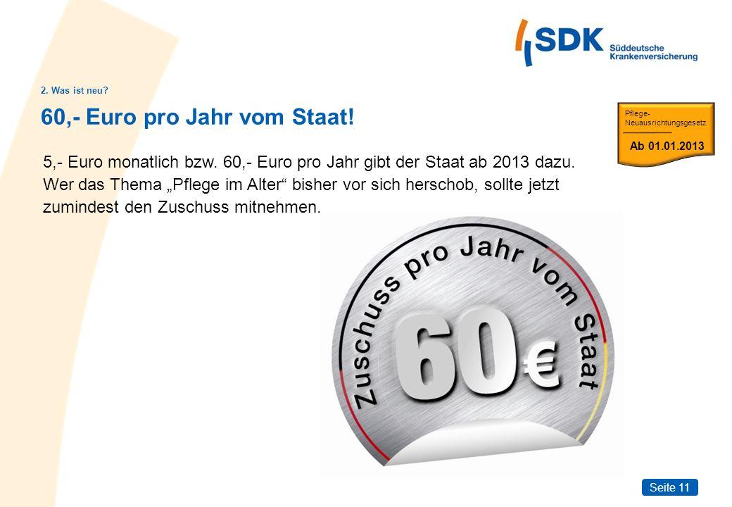 60,- Euro pro Jahr vom Staat!