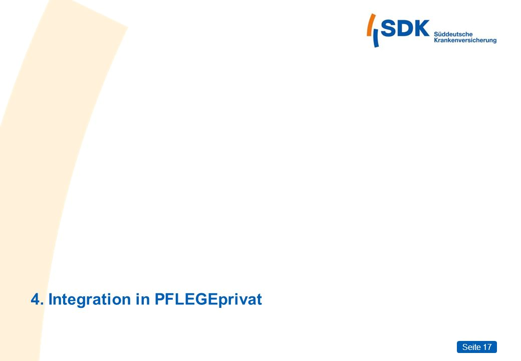4. Integration in PFLEGEprivat