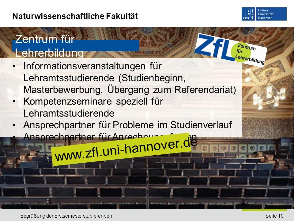 www.zfl.uni-hannover.de Zentrum für Lehrerbildung