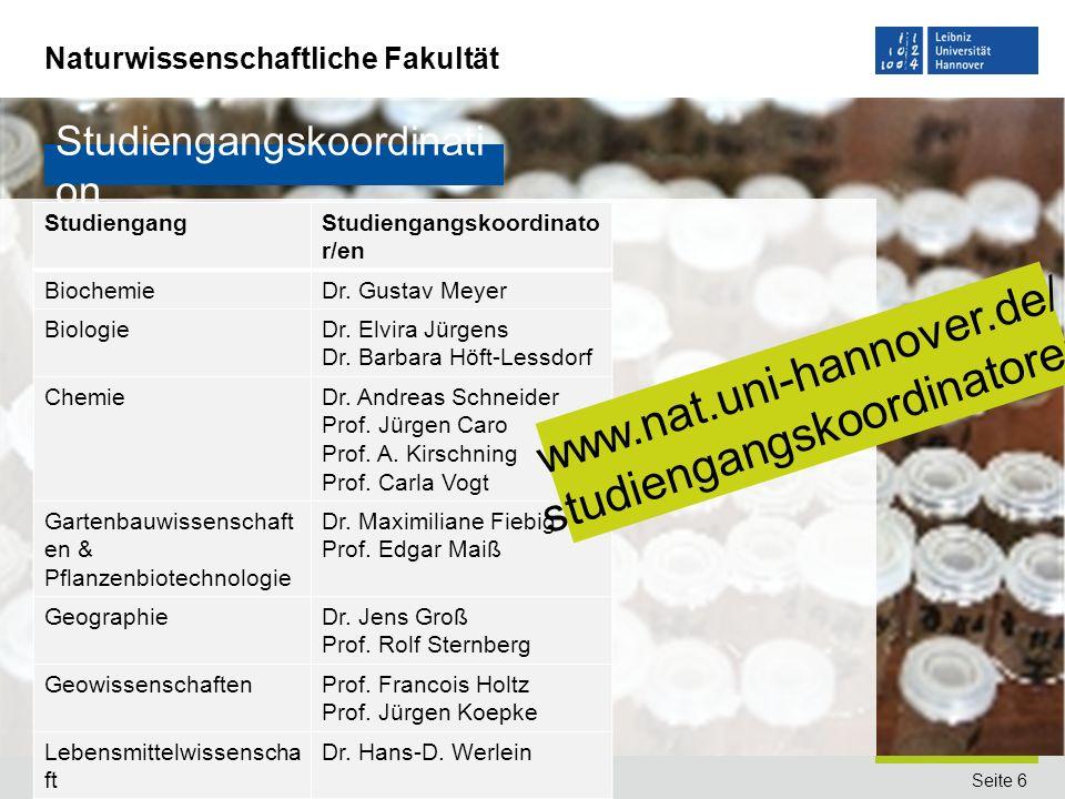 www.nat.uni-hannover.de/ studiengangskoordinatoren