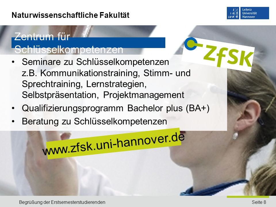 www.zfsk.uni-hannover.de Zentrum für Schlüsselkompetenzen