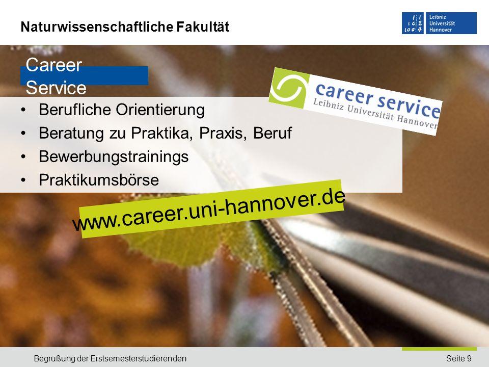 www.career.uni-hannover.de Career Service Berufliche Orientierung