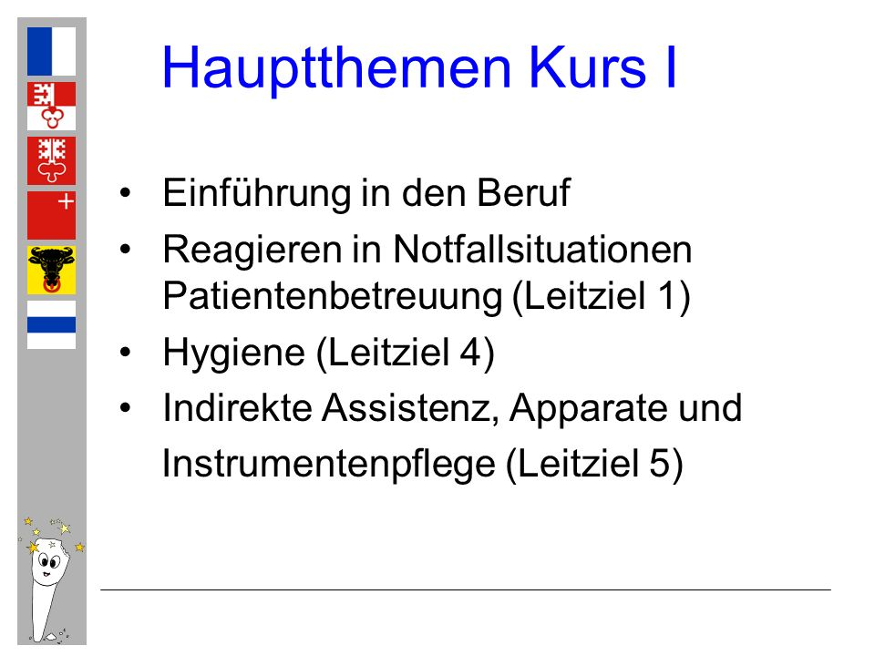 Hauptthemen Kurs I Einführung in den Beruf