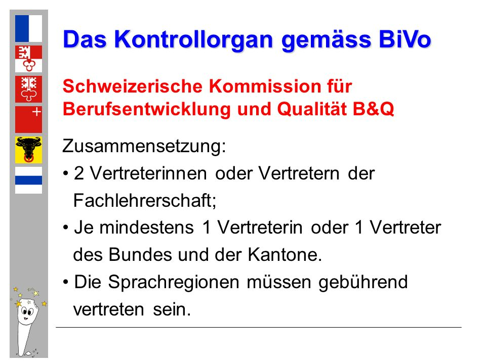 Das Kontrollorgan gemäss BiVo