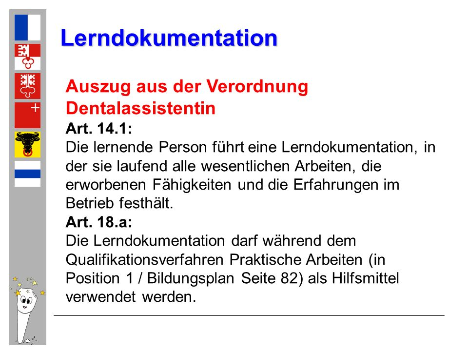 Lerndokumentation Auszug aus der Verordnung Dentalassistentin