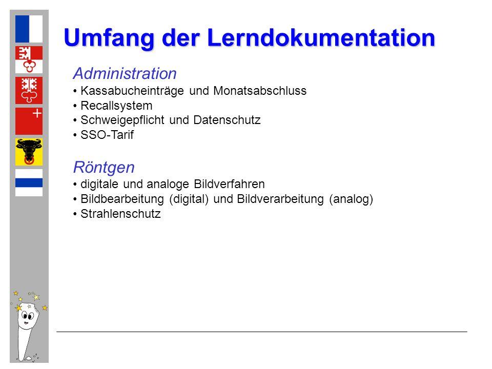 Umfang der Lerndokumentation