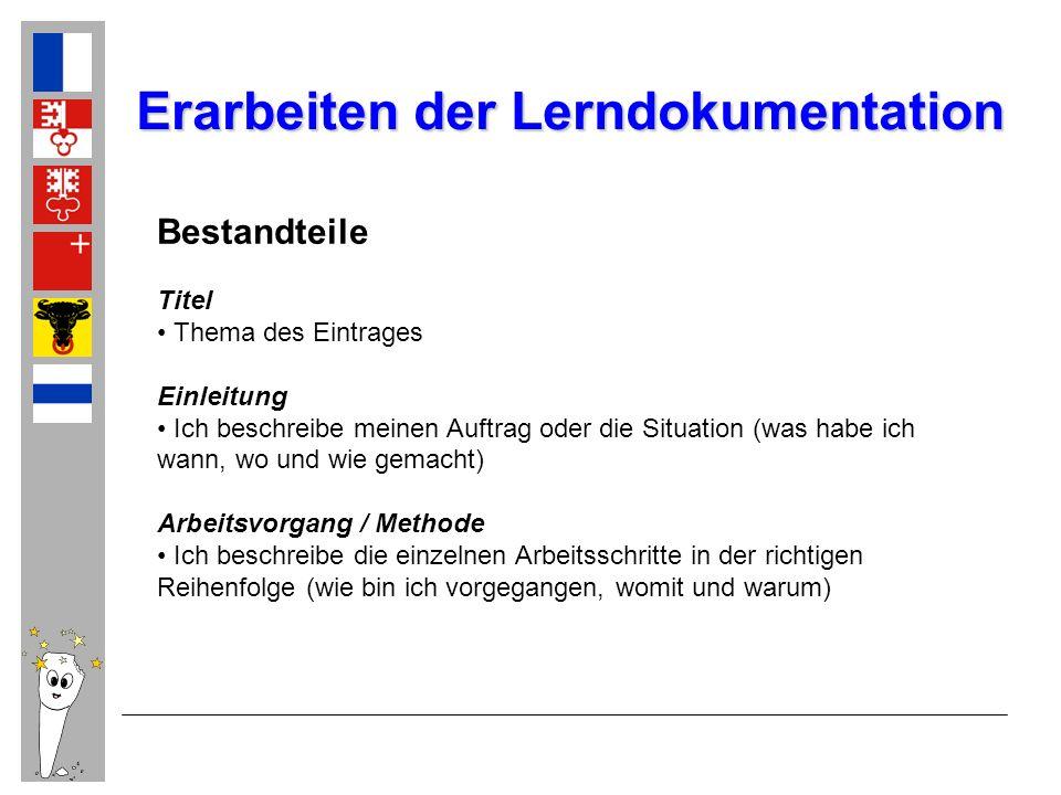 Erarbeiten der Lerndokumentation