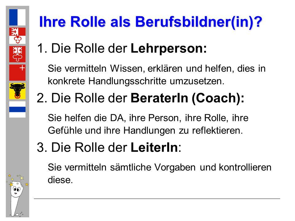 Ihre Rolle als Berufsbildner(in)