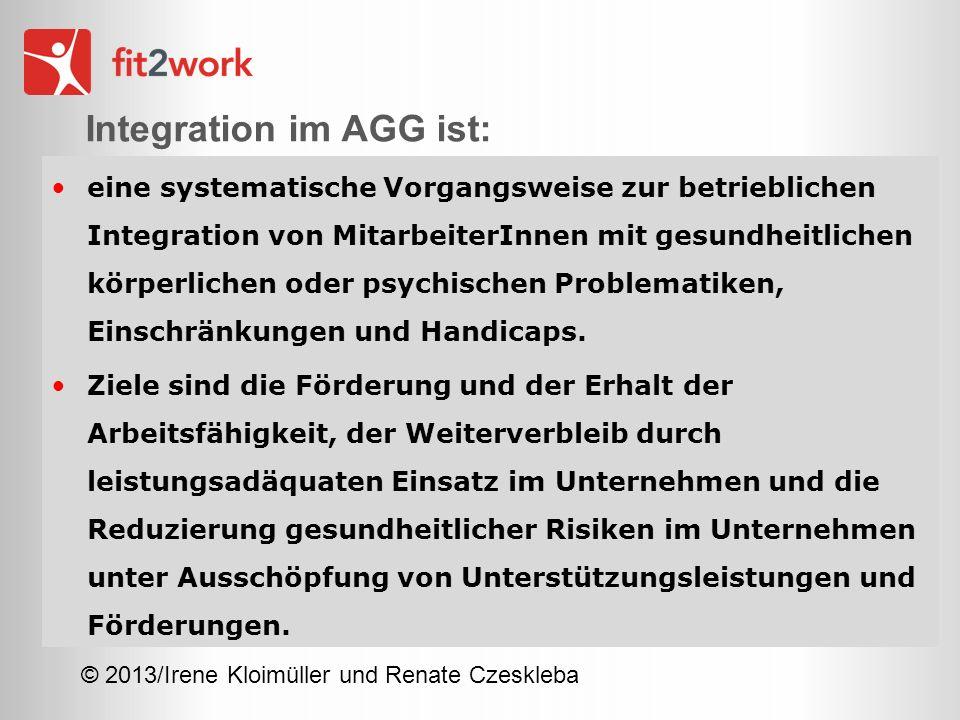 Integration im AGG ist: