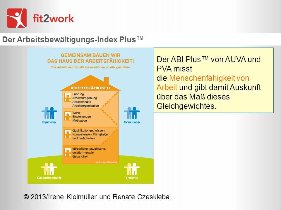 Der Arbeitsbewältigungs-Index Plus™