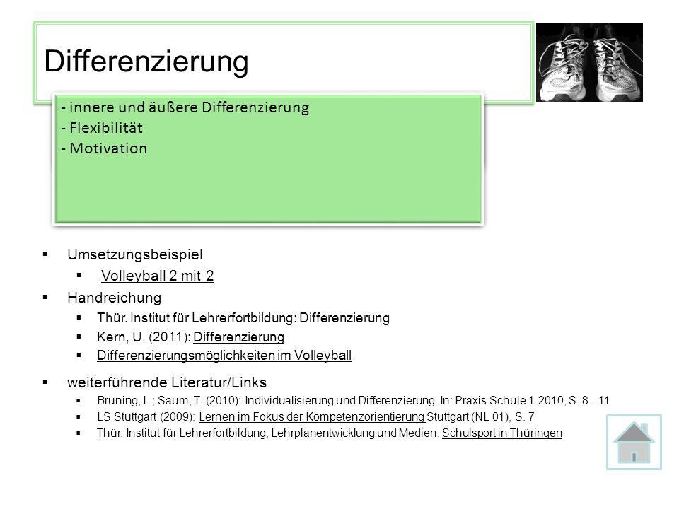 Differenzierung innere und äußere Differenzierung Flexibilität