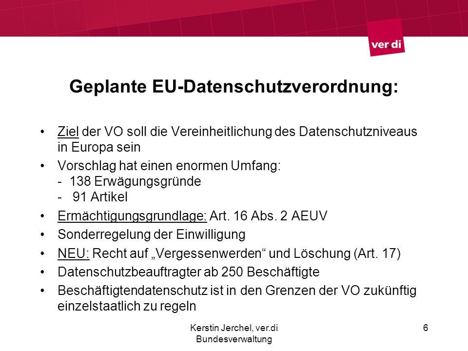 Geplante EU-Datenschutzverordnung: