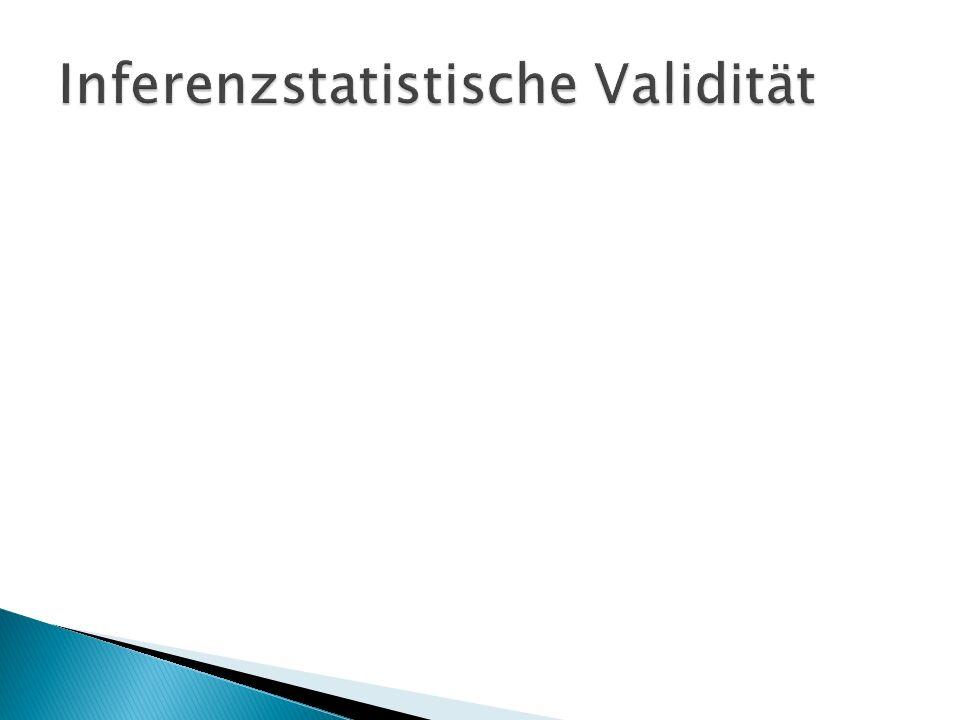 Inferenzstatistische Validität