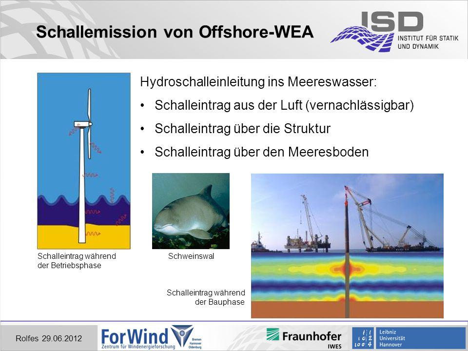 Schallemission von Offshore-WEA