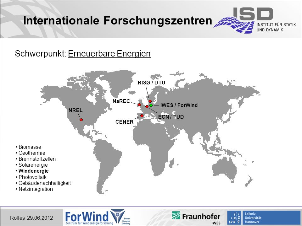 Internationale Forschungszentren