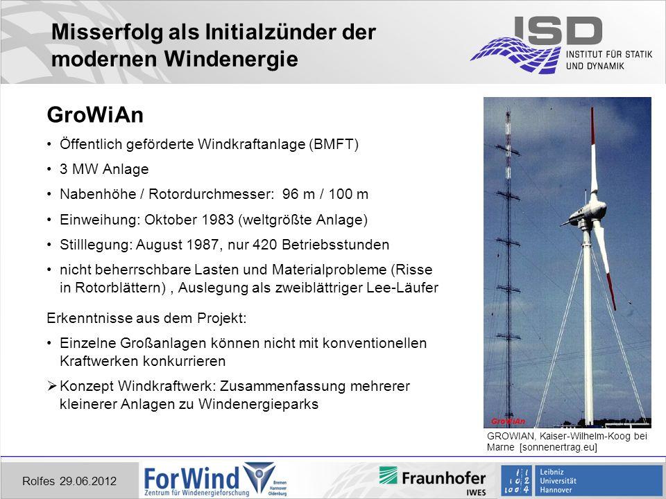 Misserfolg als Initialzünder der modernen Windenergie