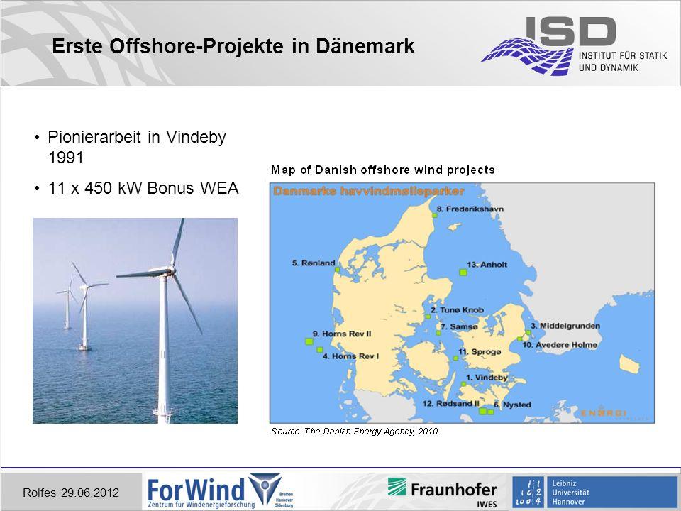 Erste Offshore-Projekte in Dänemark