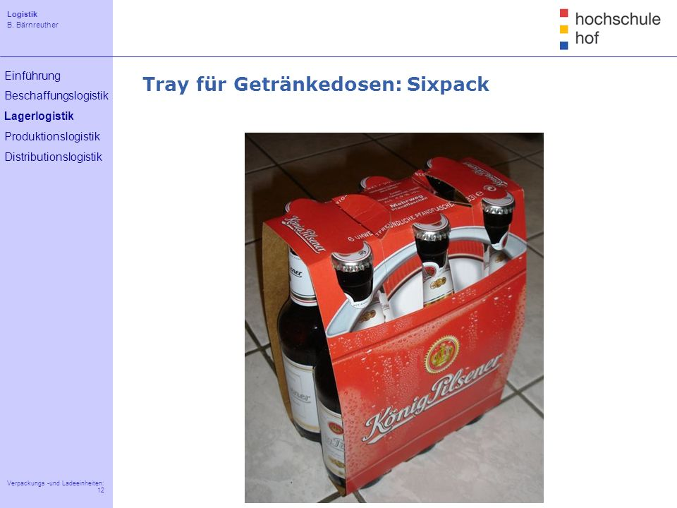 Tray für Getränkedosen: Sixpack