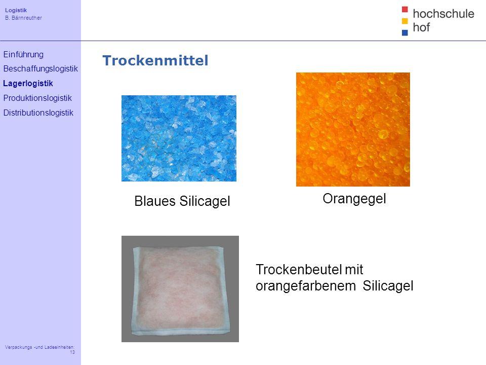 Trockenmittel Blaues Silicagel Orangegel Trockenbeutel mit orangefarbenem Silicagel
